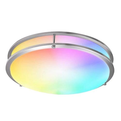 Smart Ceiling Light 14-inch 18W Flush Mount Wi-Fi Ceiling Lamp