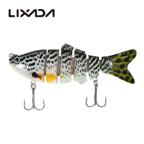 Lixada 10cm / 20g Lifelike 6 Sezioni snodati Swimbait Crankbait di richiamo di pesca esca dura Fish Hook Fishing Tackle