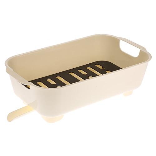 Excellent Multi-use Kitchen Dish Draining Rack Drainer Holder Fruit Bowl Storage Basket Vegetable Washing Basin