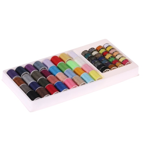 High Quality Household Sewing Thread Kit Colorful Bobbin Upper Threads Set for Hand Machine