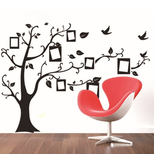 Decorative Self Adhesive Living Room Bedroom Photo Frame Memory Tree Decal Removable Mural Wall Art Sticker Home Decor DIY