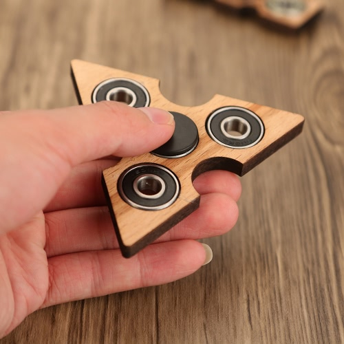 Tri Fidget Hand Finger Spinner Spin Widget Focus Toy EDC Pocket Desktoy Triangle Wooden Gift for ADHD Children Adults, TOMTOP  - buy with discount