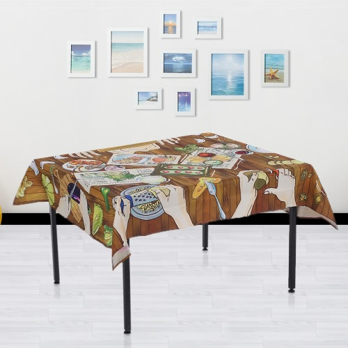 84 * 60'' Rectangular Dinner Table Cloth Polyester Printed Coffee Table Cover Tablecloths Home Decoartion