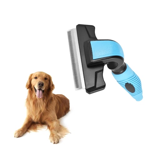 Effective Pet Deshedding Comb Brush Grooming Tool Supplies for Dogs Cats