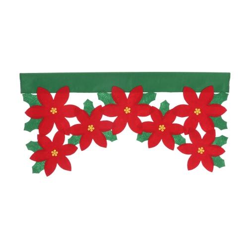 Декор рождественских окон Декор рождества Короткие украшения для занавесок Украшения для гостиной Спальня