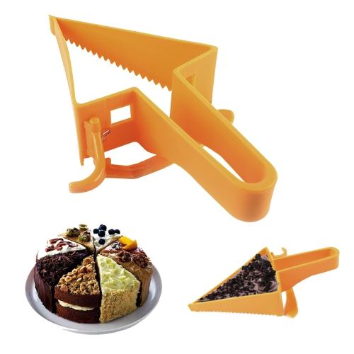 Couteau de trancheuse de séparateur de pain de coupe de gâteau réglable de forme de triangle en plastique