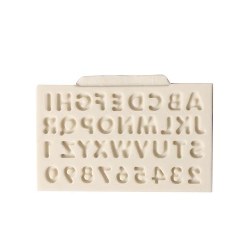 DIY No Stick Brief Nummer Kuchenform Schokolade Fondant Dekorieren Werkzeug Silikon Backen Sugarcraft Gumpaste Formen