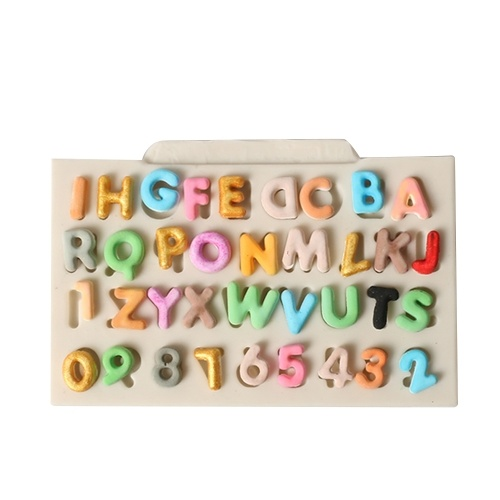 DIY No Stick Letter Number Cake Mold Chocolate Fondant Decorating Tool Силиконовая выпечка Sugarcraft Gumpaste Molds
