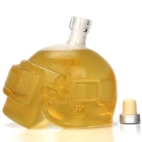 600 мл Игровые поля PlayerUnknown Третий класс Шлем Прозрачный декантер Виски Пиво Flagon Glass Vodka Bottle Gift