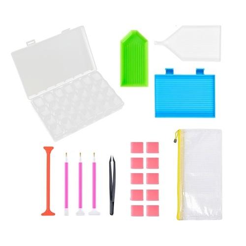 Комплект из 20 комплектов инструментов для рисования бриллиантов 5D