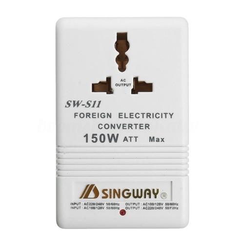 Adaptador Universal de Viagem 150 W 240 V 110 V Step Down & Up Conversor de Voltagem Transformador Adaptador de Energia EUA para AU Plug