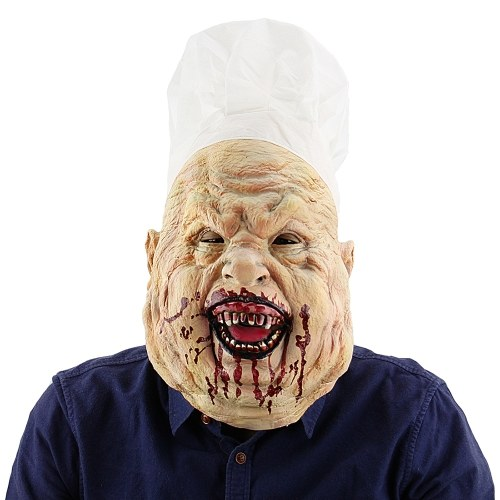Latex Full Head Toothy Bloody Butcher Mask Scary Creepy Mask