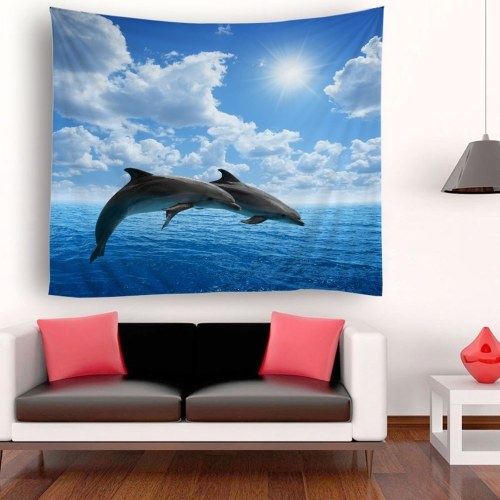 Tapestry Wall Hanging Scenery Tapestries Seaside Scenery Tapestry Wall Decoration