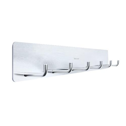 Escudo Perchero Adhensive Gancho para montaje en pared SUS 304 Gancho para toalla de acero inoxidable con 6 ganchos para el dormitorio Cocina Pasillos Oficina