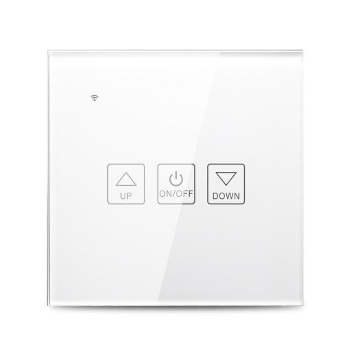 Control de voz del panel de vidrio del interruptor del atenuador inteligente Wi-Fi Compatible con Alexa Google Home Control de la aplicación Función de sincronización Interruptor de luz inteligente Interruptor de luz inteligente Blanco (1 cuadrilla)