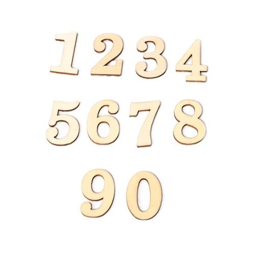 JM01483 ZAKKA de madera Artesanía Protección del medio ambiente DIY Números Decoración