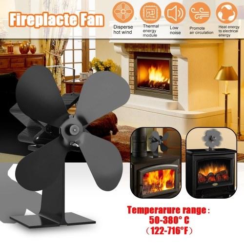 4 Blades Home Fireplace Fan Efficient Heat Distribution Fans