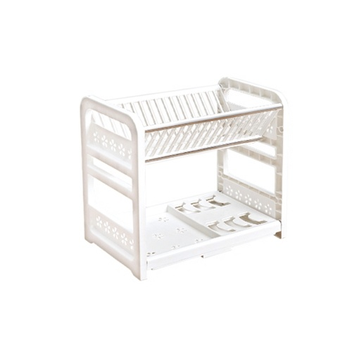 2-Tier Dish Drying Rack Geschirr Slot Design