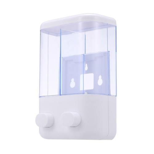 Doppelter 380 ml Seifenspender Wandmontage Duschbad Shampoo Spender Manuell Schieben von flüssigem Seifenbehälter Badezimmer Waschraumzubehör