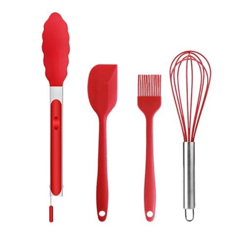 Juego de utensilios de cocina de silicona de 4 piezas