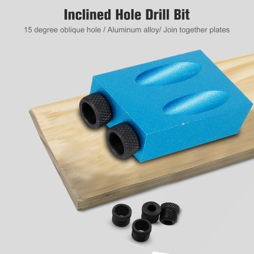 7 pcs Pocket Hole Jig 15 Degree Dowel Drill Joinery Kit