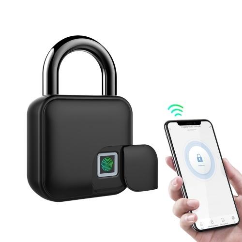 Smart Padlock Fingerprint & APP Unlocking 300mAh Rechargeable Fingerprint BT Lock