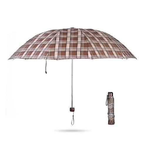 Paraguas de viaje plegable grande de 42 pulgadas portátil