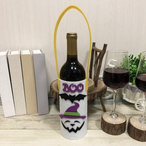 Хэллоуин Нетканые винные бутылки мешок Candy сумка с ручкой