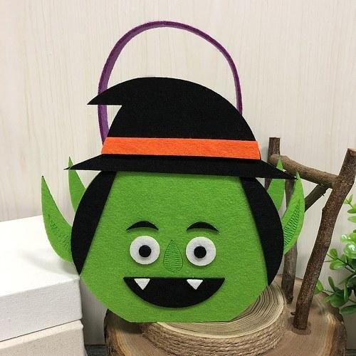 Хэллоуин Нетканые конфеты сумка Trick или лечить детей конфеты ковш с ручкой