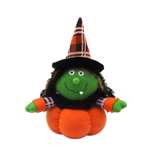 Игрушка куклы из тыквы на Хэллоуин