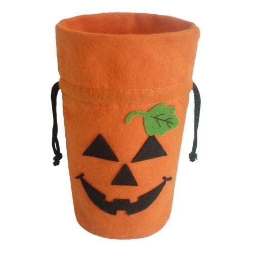 Bolso del regalo de la tela del fieltro de Halloween Bolso del caramelo del truco o de la invitación
