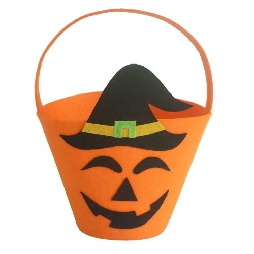 Halloween Felt Fabric Gift Bag Trick or Treat Candy Bucket