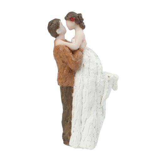 Harz Bräutigam & Braut paar Figur Hochzeitstorte Topper