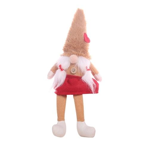 Christmas Faceless Doll Ornament Cute Cartoon Long Legs