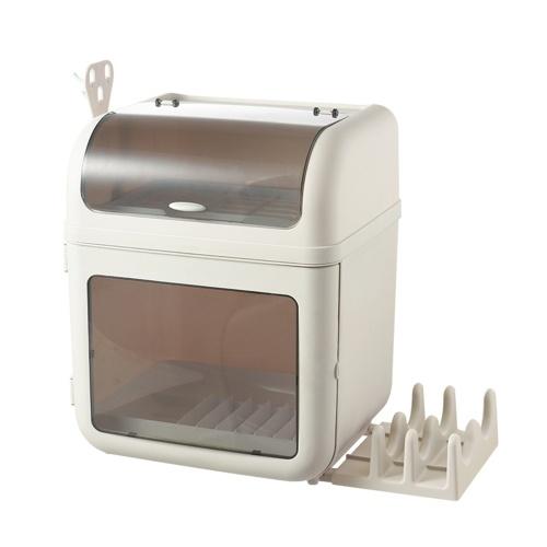 Caja organizadora de almacenamiento de platos y platos a prueba de polvo