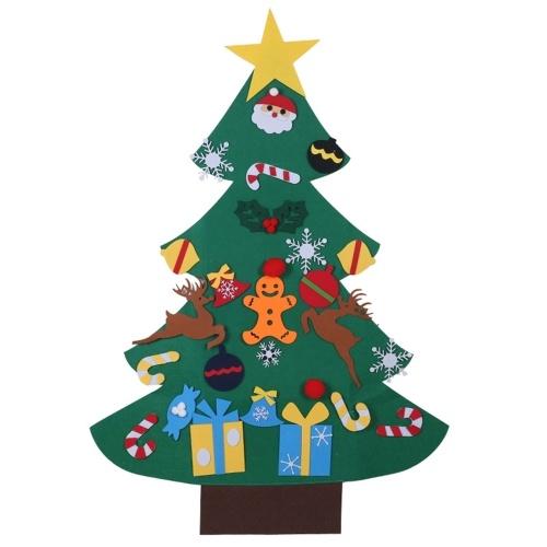 Ornamenti per alberi di Natale in feltro fai da te da 43 pollici