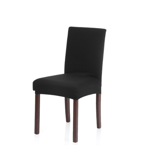 Thick Knit Stretch Removable Washable Dining Chair Cover Polyester Spandex Seats Slipcover For Wedding Party Hotel