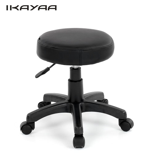 iKayaa PU Leather Swivel Bar Stool Chair Height Adjustable Pneumatic Counter Pub Chair Barstools Heavy-duty