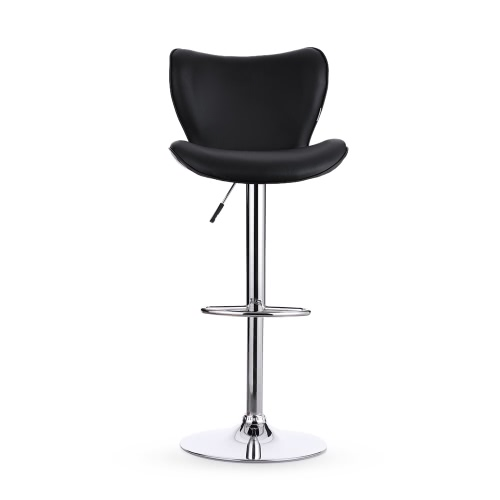 iKayaa 2PCS/Set of 2 PU Leather Swivel Bar Stool Chair Height Adjustable Pneumatic Counter Pub Chair Barstools Heavy-duty