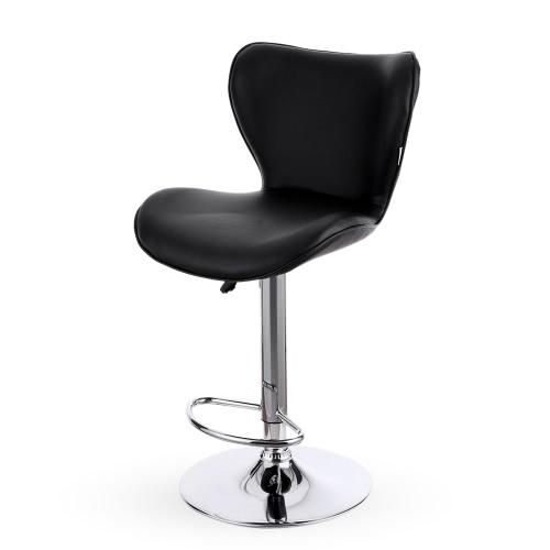 iKayaa 2PCS/Set of 2 PU Leather Swivel Bar Stool Chair Height Adjustable Pneumatic Counter Pub Chair Barstools Heavy-duty