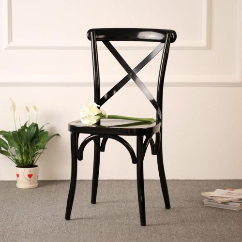 iKayaa Industrial Style Metal Kitchen Dining Breakfast Chair Stool Ergonomic Design