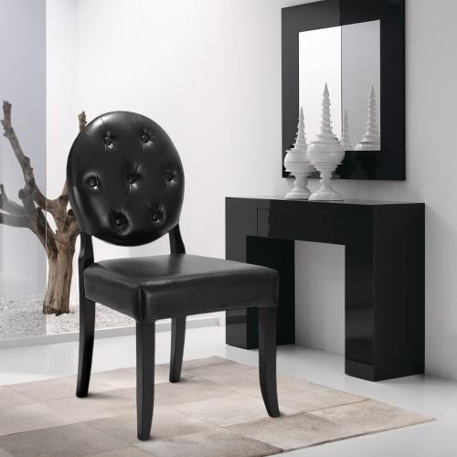 iKayaa Классический Античный стиль Tufted Кухня Стул Кожа PU Accent Председатель Боковой Гостиная Председатель W / Rubber Wood Leg