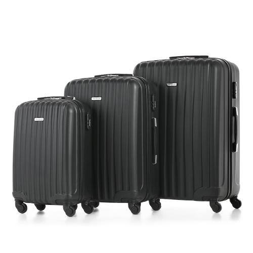 TOMSHOO Moda de 3 piezas Juego de equipaje maleta de equipaje de la carretilla ABS 20
