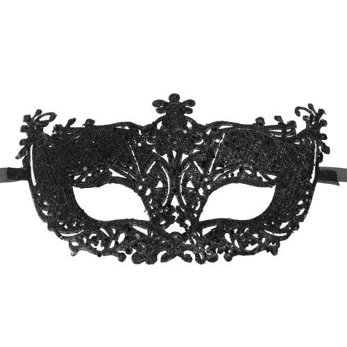 Festnight Fashionable Plastic Half Mask Halloween Masquerade Ball Mask with Glitter Decoration