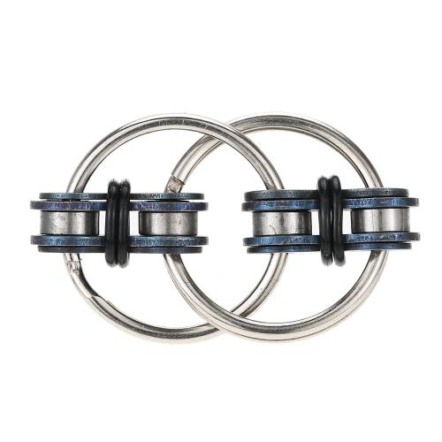 Mini Podwójny Key Ring Fidget Toy blokujące Chain Linki Widżet EDC Kieszeń na skupianie uwagi Zabawa Desktoy Anxiety Stress Relief ADHD ADD Autyzm Dzieci Dorośli podarunkowe Zręczne ręce