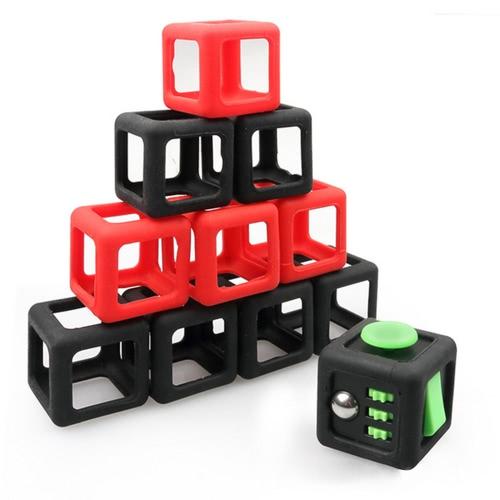 Stress Relief Fidget Cubo Dado Shell Habitação quadro de protecção Caso Box Bainha Acessório PVC