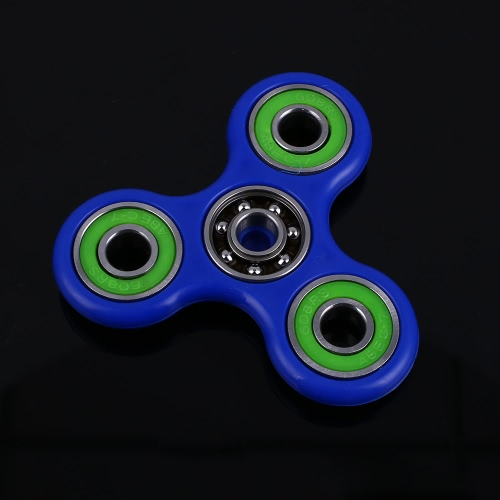 Anself Tri Fidget Hand Finger Spinner Spin Widget Focus Toy EDC Pocket Desktoy Triangle Plastic Gift for ADHD Children Adults Relieve Stress Anxiety Boredom Killing Time Cute