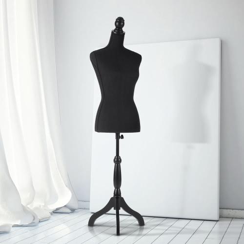 """IKayaa Женская манекенская форма торса с деревянной подставкой для штатива Pinnable Размер 34 """"26"""" 35 """""""