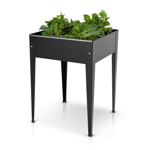 IKayaa Металлический патио Поднятый садовый планшетный ящик Цветочный сад с садовым растительным садом Вертикальные наборы для садоводства
