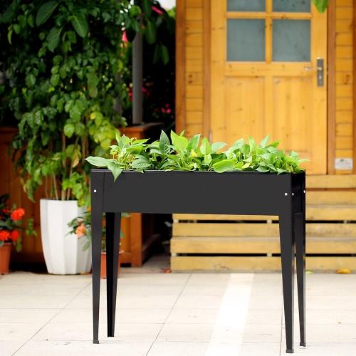 Jardinero con patio iKayaa para jardín elevado